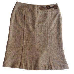 Tribal Herringbone Tweed Flared Skirt- Sz. 10